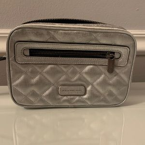 Marc Jacobs Metallic Silver Leather Cross Body Bag
